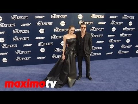 Angelina Jolie, Brad Pitt, Elle Fanning, Juno Temple MALEFICENT World Premiere ARRIVALS