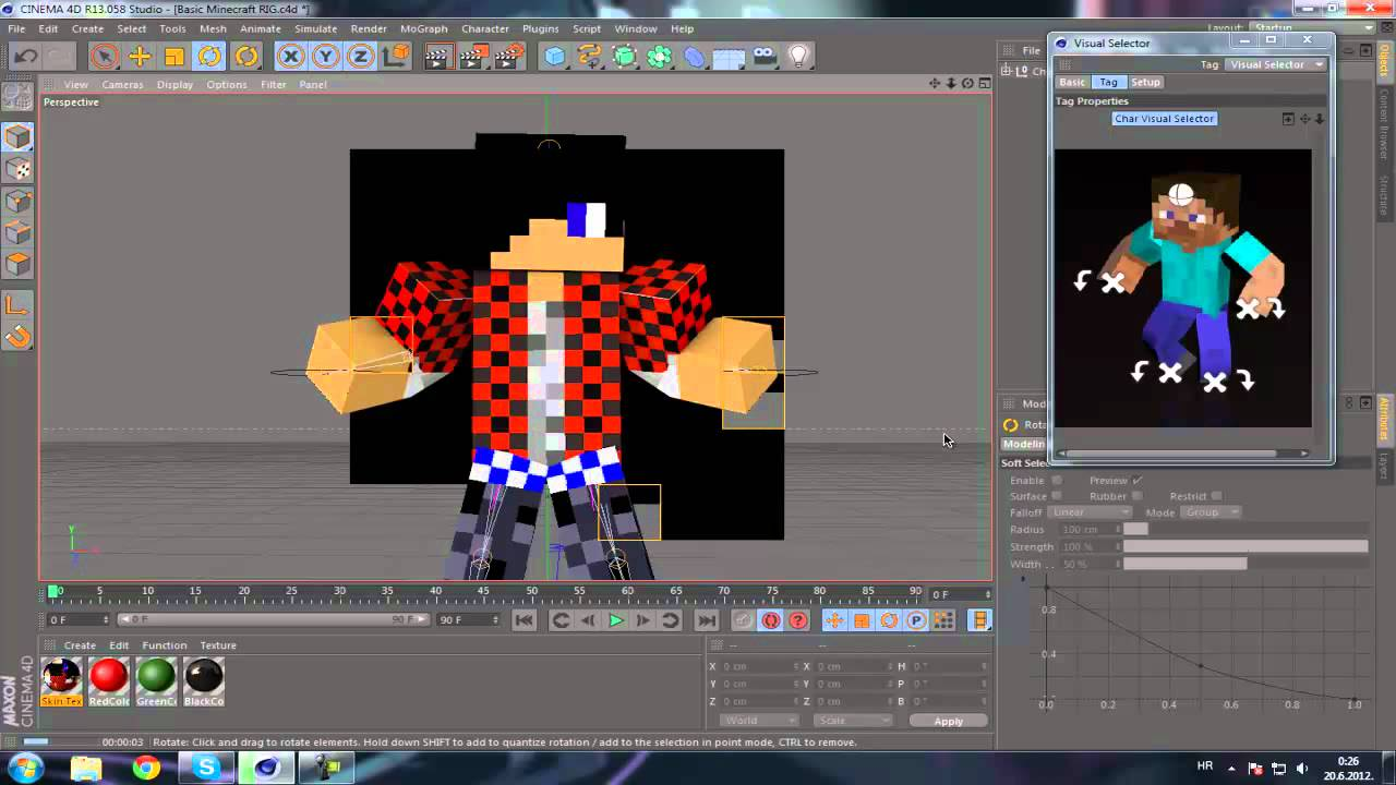 How to make minecraft 3d animation cinema 4d youtube Minecraft 3d model maker