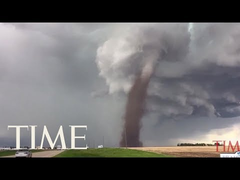 Three Hills, Alberta Tornado Caught On Video | TIME