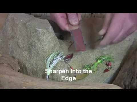 Video of Hook sharpening with Angler Mini-Sharp® Sharpener