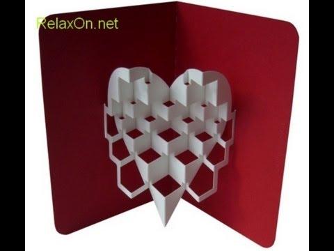 Как сделать объёмные сердечки из бумаги своими руками