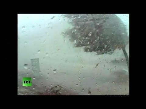 RAW: Tornado rips through Portland, MI on CCTV video