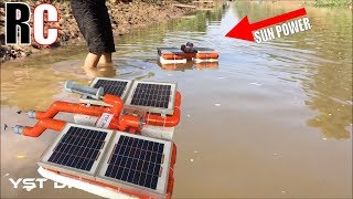Fishing boats eat with solar energy RC