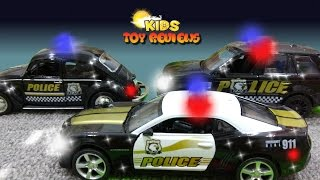 Police Car for Children, Unboxing Police Toy Cars, Police Vehicles with Kids Toy Reviews