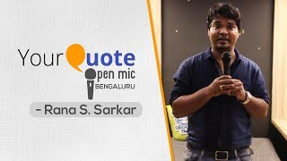 'I Write So Bad' by Rana Swapan Sarkar | Stand-Up Comedy | YQ - Bengaluru (Open Mic 2)
