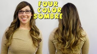 4 COLOR SOMBRE - New Celeb Hair Trend - Hair 101 with April