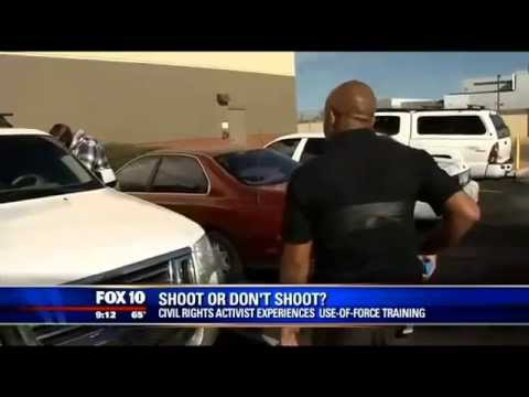 Activist critical of police undergoes use of force scenarios