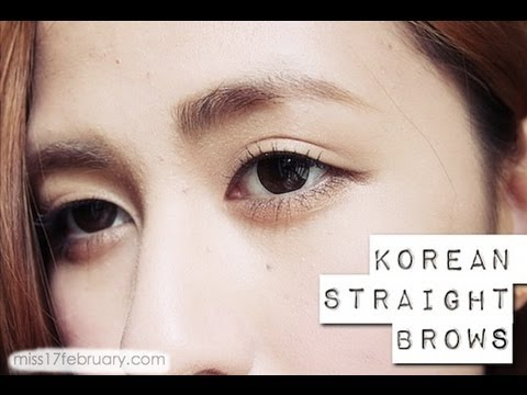 Tutorial: Korean Straight-Styled Brows