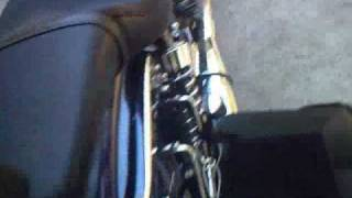 How to remove the seat on a 2007 Suzuki Boulevard S40 motorcycle