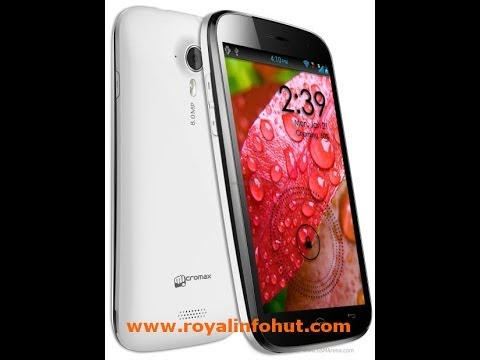 How To Hard Reset Micromax Canvas HD A116   Unlock Google Pattern Lock Canvas A116