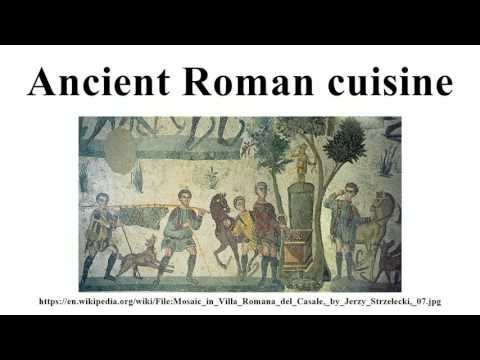Ancient roman cuisine for Ancient roman cuisine