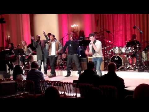 JL, Jamie Foxx, Seal and Nick Jonas Rehearse For The Motown Tribute, The White House