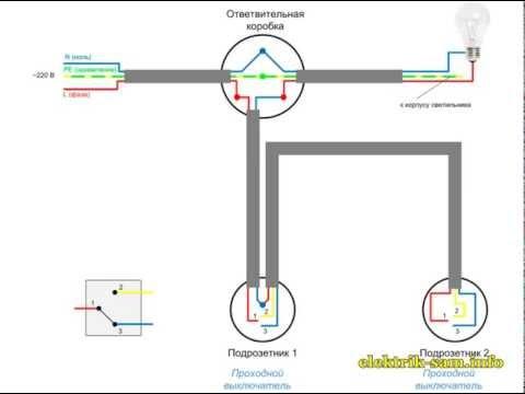 Схема підключення прохідного