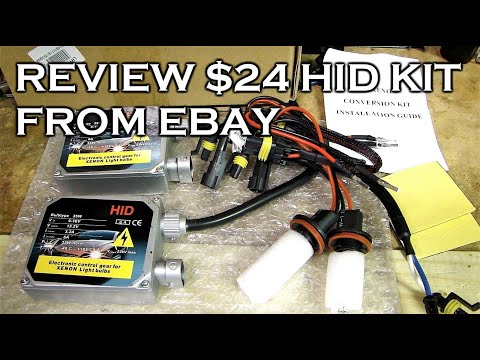 REVIEW $24 HID KIT FROM EBAY