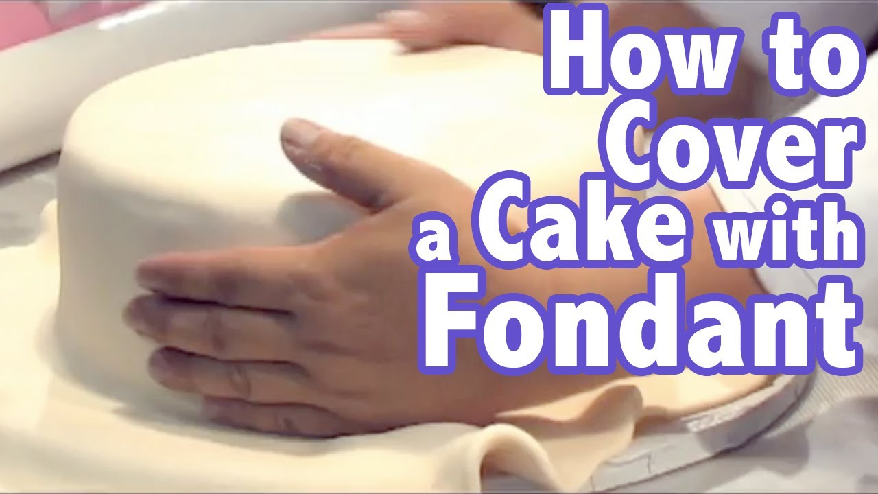 how to cover a cake with fondant video