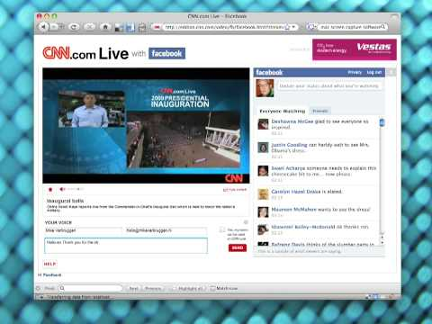2009 Presidential Inauguration on CNN.com  Live with Facebook Status Updates