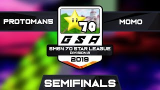 protoman5 vs m0m0 | Semifinals | GSA SM64 70 Star League D2 Season 1