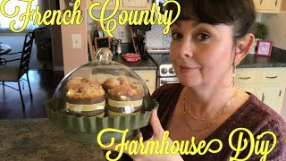 Tuscan | French Country | Farmhouse Painted Galvanized Cloche Diy 2019