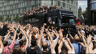Grand welcome for World Champions Germany