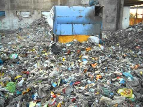 waste plastic to fuel MSW dust removal