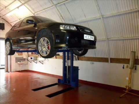 Home made 1 post car lift youtube Car lift plans