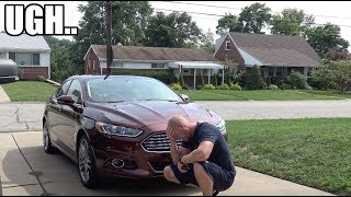 LOL.. I can't catch a break.. Never let your wife drive your car! (Now The Fusion Needs Fixed)