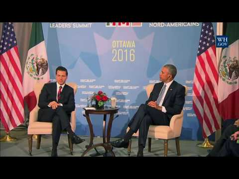 Mexico-US Relations -Obama and Mexican President Pena Nieto -Full News Comments