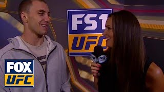 James Vick talks with Heidi Androl on his first main event fight | INTERVIEW | UFC FIGHT NIGHT