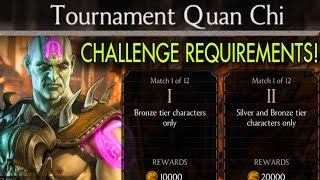 Tournament Quan Chi Challenge requirements and BOSS Battle. Mortal Kombat X Mobile.