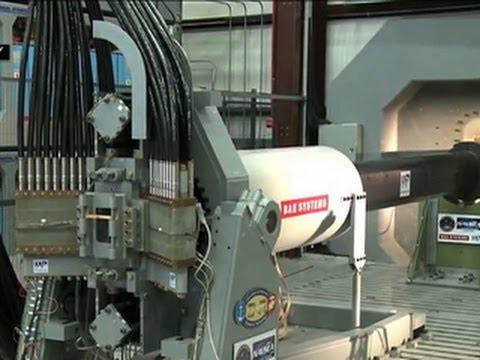 U.S. Navy unveils high-speed rail gun
