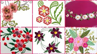 Beautiful Hand Embroidery Flowers Designs