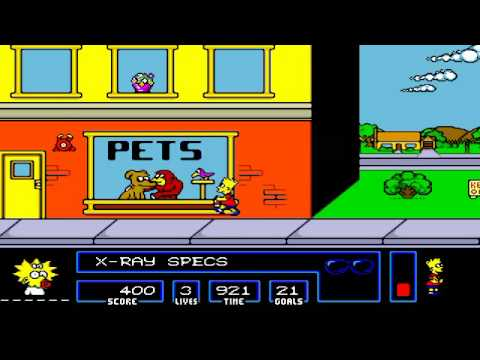 Bart vs. Space Mutants (Sega Mega Drive) Gameplay