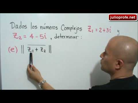 Operaciones con números complejos-Operations with Complex Numbers