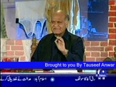 Anwar Masood Urdu Funny Poetry On Geo Part 2 video