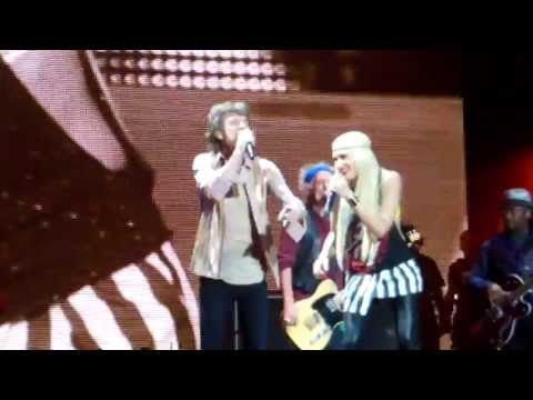 Wild Horses LIVE Gwen Stefani & The Rolling Stones 5-3-13 The Staples Center, LA LIVE