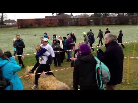 UK Wife Carrying 2013 BBC Breakfast presenters
