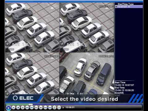 ELEC CCTV DVR  Playback Recorded Files