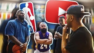 YOUTUBERS VS NBA PLAYERS!! INTENSE 2V2 BATTLE!! LOSER HAS TO A WEAR ROMPER & DRESS IN DRAG!!!