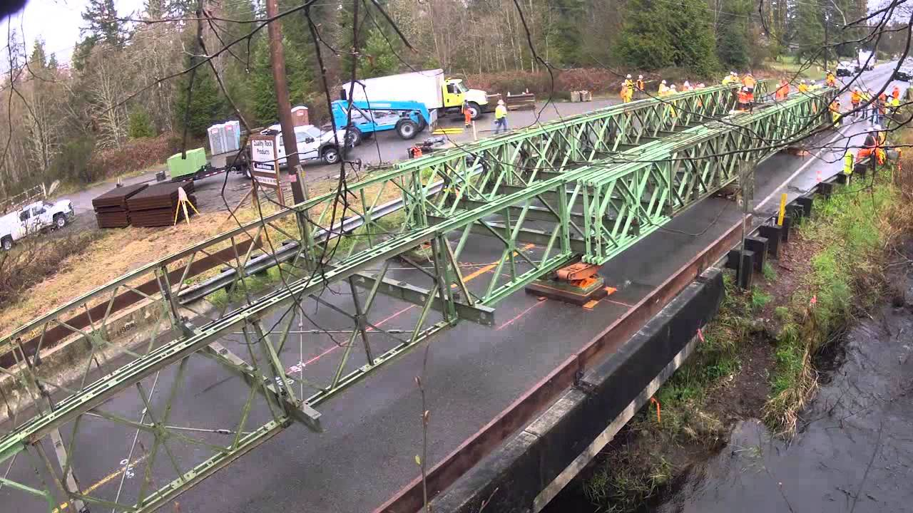 Portable Bridge Construction : Temporary bailey bridge installation march youtube