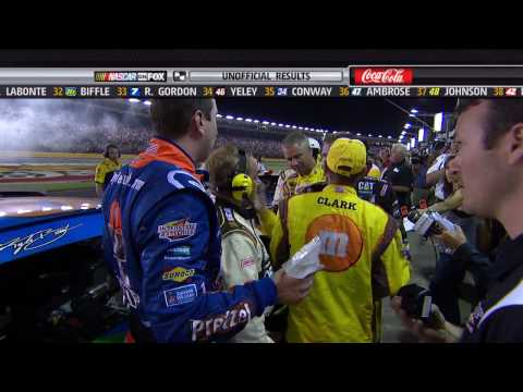 Jeff Burton angry with Kyle Busch - Coca Cola 600 5-30-2010 Video
