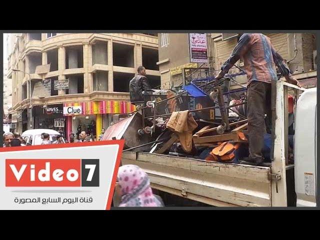 حملة إخلاء منطقة الهرم من الباعة الجائلين