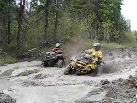 can-am 800,bombardier,polaris sportsman 700,atv mudding,atv mud,vtt bouette