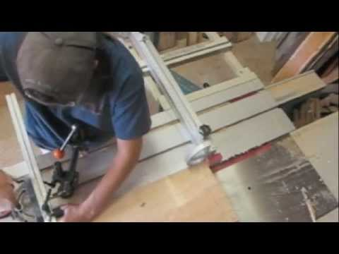 Tapering on a Sliding Tablesaw