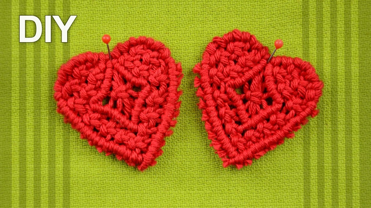 How To Make Macrame HEART DIY Tutorial YouTube