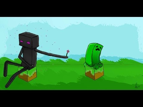 MINECRAFT ENDERMAN AND CREEPER SPEED PAINT