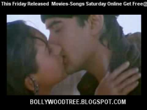 Aamir Khan  Karishma Kapoor Kiss In Raja Hindustani video