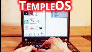 TempleOS on real hardware Thinkpad T60 - RIP Terry Davis