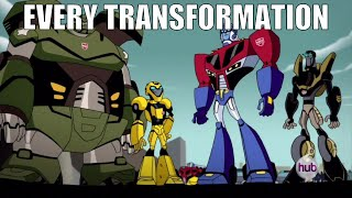 Every transformation from Transformers Animated