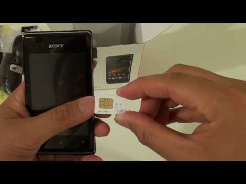 Sony Xperia E: How to Insert New SIM Card