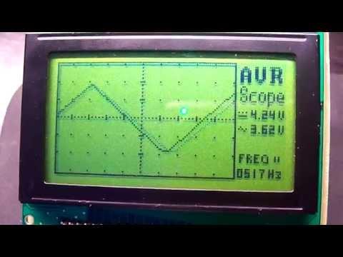 AVR oscilloscope v2.00 Video 1